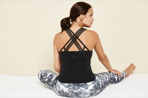 Yoga Shirt - Elegant Top - Black - Mandala
