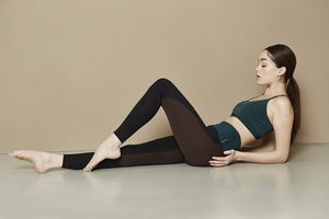Yoga Top - Slim Studio Bra - Aviator green - Mandala