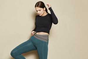 Yogahose - Work out Legging - Aviator green - Mandala
