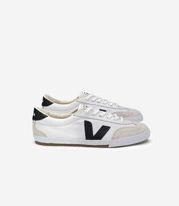Volley Canvas White Black - Veja
