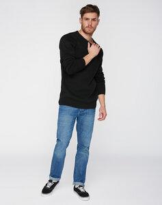 Herren Strickpullover aus Bio Baumwolle schwarz | Crew Neck Knit - recolution