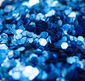 Kobaltblau - Biologisch abbaubarer Glitzer - Glitterkram