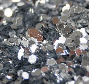 Chunky Silber - Biologisch abbaubarer Glitzer - Glitterkram