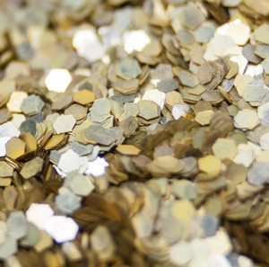 Chunky Gold - Biologisch abbaubarer Glitzer - Glitterkram