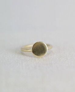Vergoldeter Ring 'Via' - pikfine