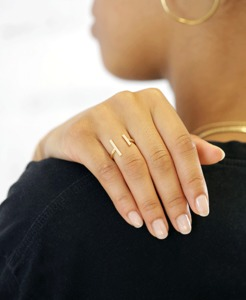 Vergoldeter Ring 'Bar' - pikfine