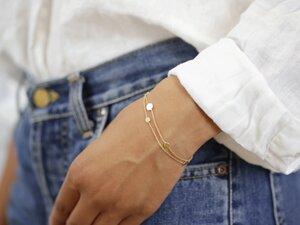 "vergoldetes Doppel-Armband ""Via"" - pikfine"