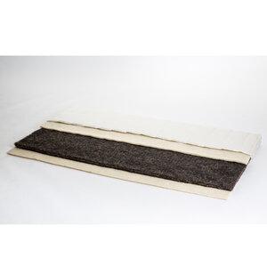 Naturtopper aus 100 % Rosshaar & reiner Schafwolle Höhe 5 cm - 4betterdays