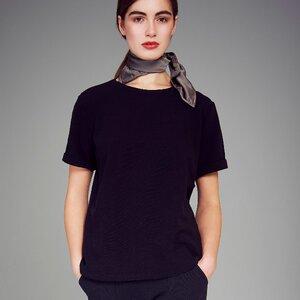 T-Shirt BOY schwarz minirib - JAN N JUNE