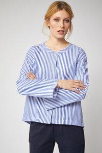 Streifen-Bluse Stripe Weiß / Blau - Lanius