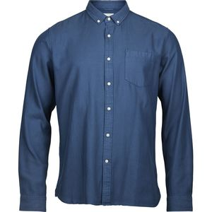 Twill Shirt Vegan Insigna Blue - KnowledgeCotton Apparel