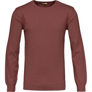 Basic O-Neck Cotton / Cashmere GOTS Decadent Chokolade - KnowledgeCotton Apparel
