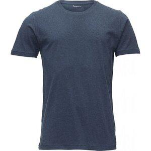 Basic Regular Fit 0-Neck Insigna Blue Melange - KnowledgeCotton Apparel