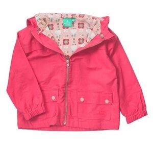 Kinder Wetterjacke mit Kapuze pink Bio Baumwolle - Little Green Radicals
