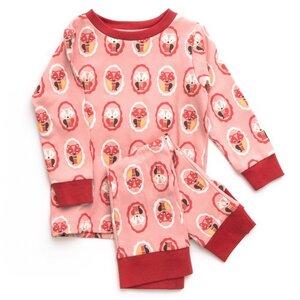 Baby u.Kinder Schlafanzug pink/gemustert Bio Baumwolle - Little Green Radicals