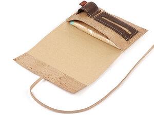 Tabaktasche aus robustem Kork / Korkstoff inkl. Fächern mit Band - Simaru