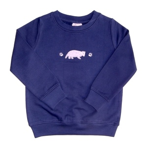 Kinder Sweatshirt blau mit Applikation Bio Baumwolle - People Wear Organic