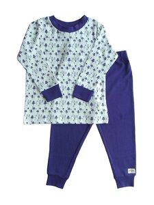 Kinder Schlafanzug weiß blau Bio Baumwolle - People Wear Organic