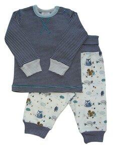 Baby Schlafanzug blau/geringelt Bio Baumwolle - People Wear Organic