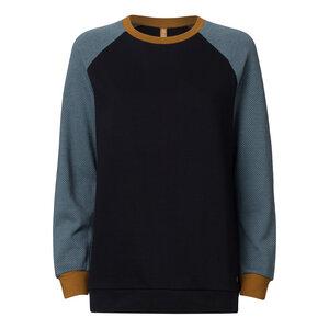 Sweatshirt Schwarz/Hellblau Bio & Fair // TT1037 Damen - THOKKTHOKK