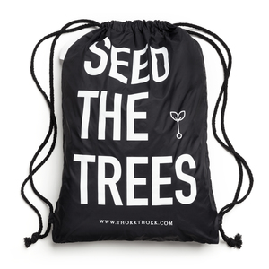 Turnbeutel Schwarz // Seed The Trees // Recycled & Fair - ThokkThokk