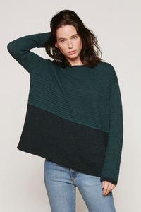 Alpaka Strickpullover - Wide Sweater Chiné - Petrol - Les Racines Du Ciel