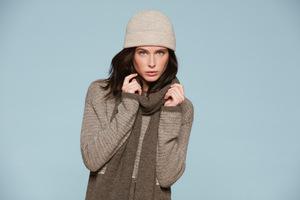 Damen Sweater - Wide Sweater Chiné - Beige - Les Racines Du Ciel