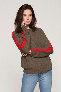 Damen Sport Sweater - Brown/Red - Les Racines Du Ciel