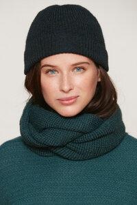 Damen Mütze - Alpaka Wolle - Green/Petrol - Les Racines Du Ciel