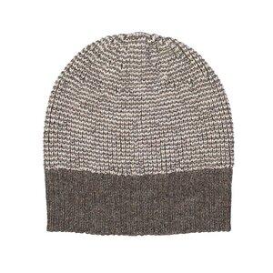 Damen Mütze - Alpaka Wolle - Brown/Beige - Les Racines Du Ciel