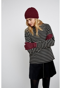 Mütze - Textured Beanie - Burgundy - People Tree