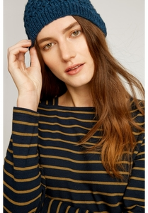 Mütze - Textured Beanie - Blue - People Tree