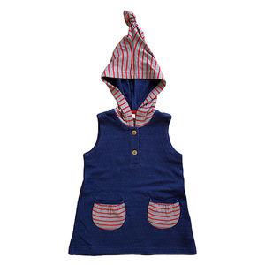 Baby Kinder Tunika Kapuzenkleid 5 Farben Bio-Baumwolle Oberteil  - Leela Cotton