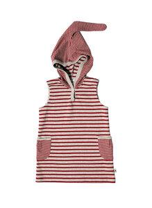 Tunika Kapuzenkleid Bio-Baumwolle Kleid Oberteil - Leela Cotton