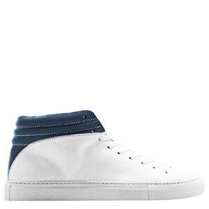 """hoher Sneaker aus Leder  """"nat-2 Sleek white navy"""" in weiß und blau - nat-2"""