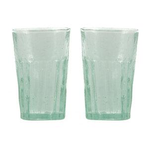 Mundgeblasene Trinkgläser 2er Set aus recyceltem Glas - studio TR