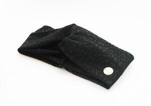 Stirnband im Turbanlook - Black Animal - dreisechzig