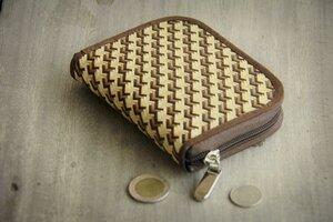Portemonnaie aus farbigen Bambusfasern - Vegan, Bambus, mit Zipper - BY COPALA