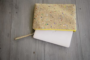 Laptop case 15-16 inch/ zoll- Vegan, Hülle aus Kork MacBook Tasche YZ  - BY COPALA