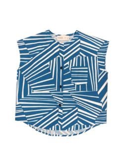 Top AVAstripes blau - CUS