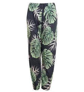 Monstera Leaf Pants aus Bio-Baumwolle - Lena Schokolade