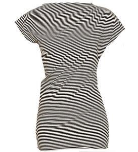 T-Shirt asymmetrisch ringel aus Bio-Jersey - Lena Schokolade