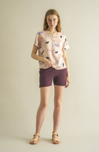 Weinrote Shorts - JULIA oc-light - CUS