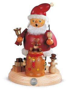 Müller Räuchermann  Weihnachtsmann auf Sockel 19 cm  - Müller Seiffen