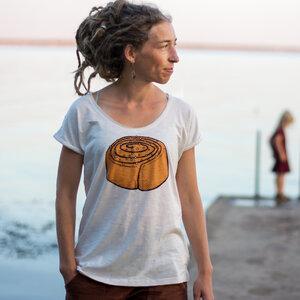 Zimtschnecke Damen Tshirt in naturweiß - Cmig