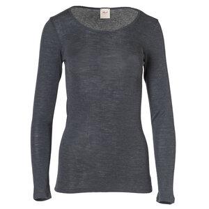 Langarmshirt Wolle/Seide - anthrazit - People Wear Organic