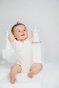 Baby Kimono Wickelbody Strampler Kurzarm - Babybugz