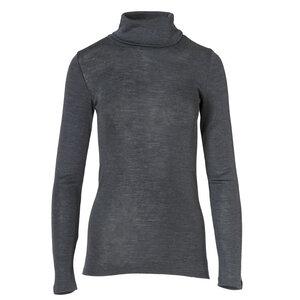 Rollkragenshirt Wolle/Seide - anthrazit - People Wear Organic