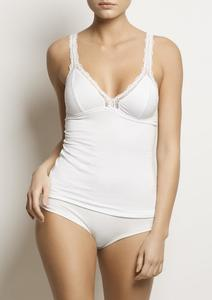 Damen Top - ONYX Cami - White - WORON.