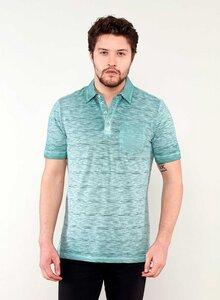 Garment Dyed Poloshirt aus Bio Baumwolle mit Brusttasche - ORGANICATION